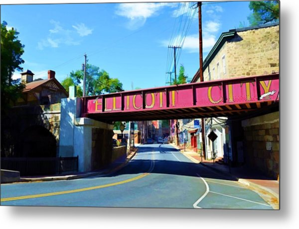 Main Street - Ellicott City Metal Print