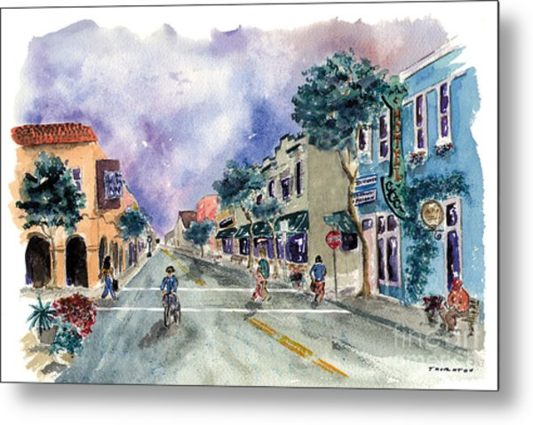 Main Street Half Moon Bay Metal Print