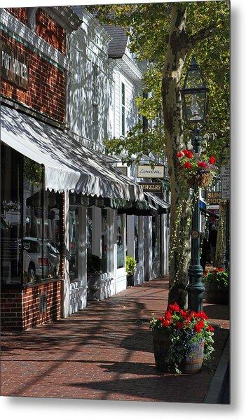 Main Street In Edgartown Metal Print