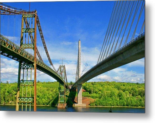 Maine Bridges Metal Print