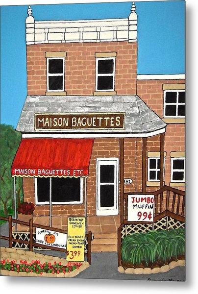 Maison Baguettes Metal Print