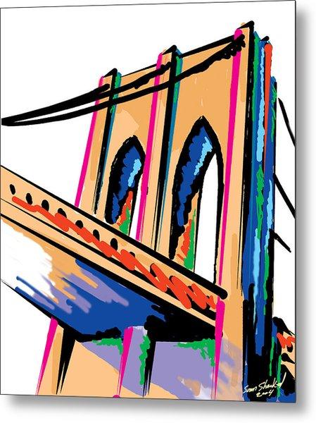 Majestic Brooklyn Bridge Metal Print