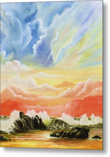 Majestic Clouds Metal Print by Janet Hufnagle
