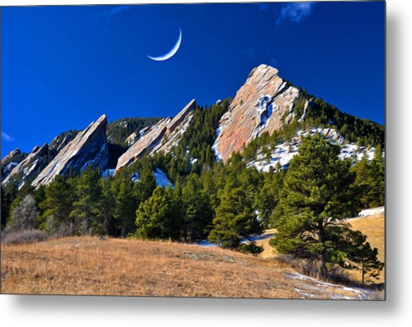 Majestic Flatirons Of Boulder Colorado Metal Print