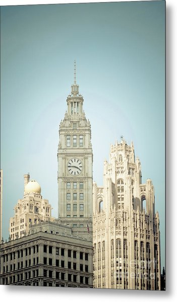 Majestic Vintage Buildings Chicago Metal Print