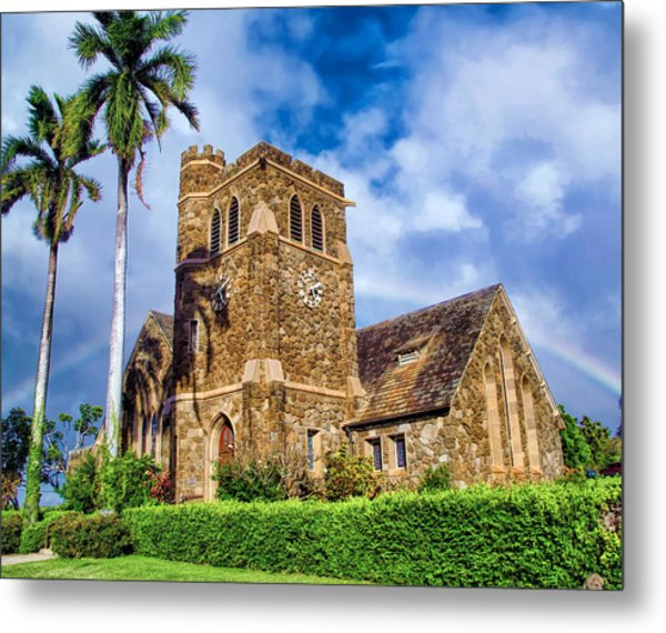 Makawao Union Church 1 Metal Print