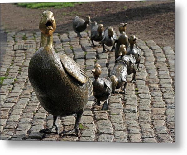 Make Way For Ducklings Metal Print