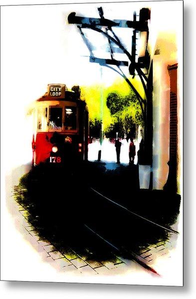 Make Way For The Tram  Metal Print