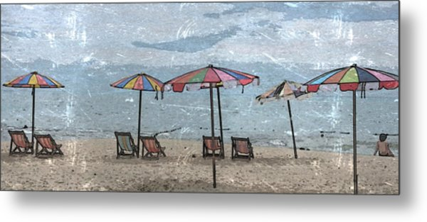 Malazy Day At The Beach Metal Print