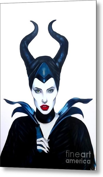 Maleficent Watercolor Metal Print