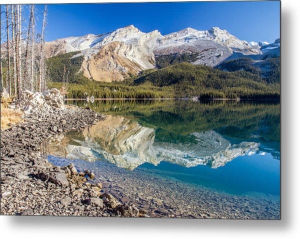 Maligne Lake Reflection Jasper Metal Print by Pierre Leclerc Photography
