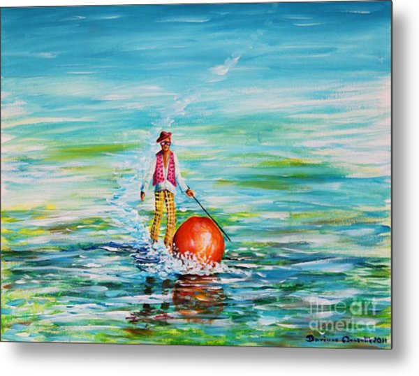Strolling On The Water Metal Print