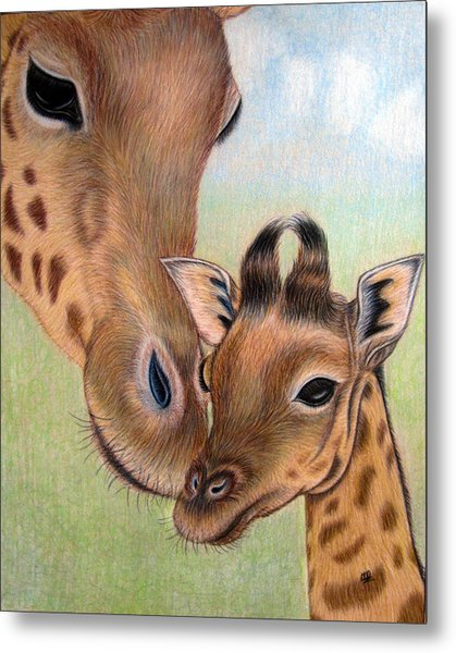 Mama Loves Me Metal Print