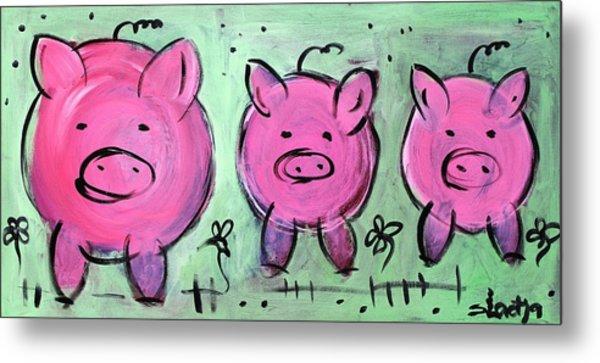 Mama Pig Metal Print