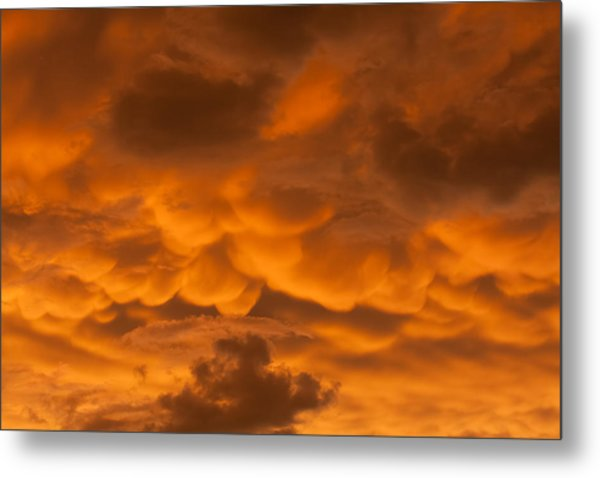 Mammatus Clouds Metal Print