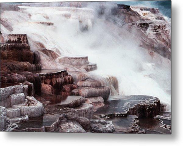 Mammoth Hot Springs In Yellowstone Metal Print
