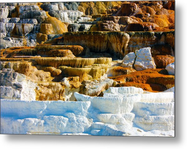 Mammoth Hot Springs Rock Formation No1 Metal Print