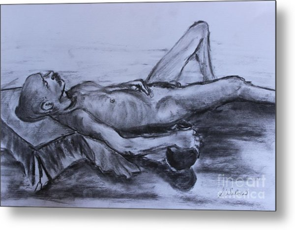 Man At Rest Metal Print by Sharon Wilkens