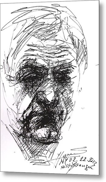 Man Head Metal Print