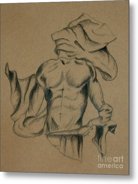 Man In Robe Metal Print