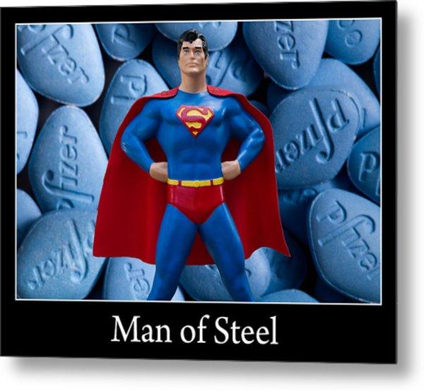 Man Of Steel Metal Print by William Patrick
