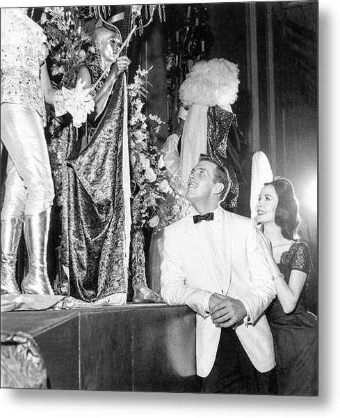 Man Wearing A Suit By Costume Winners Metal Print by Richard Waite