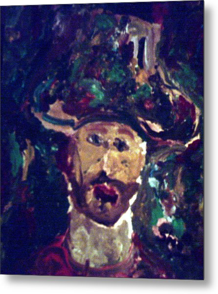 Man With A Hat Metal Print