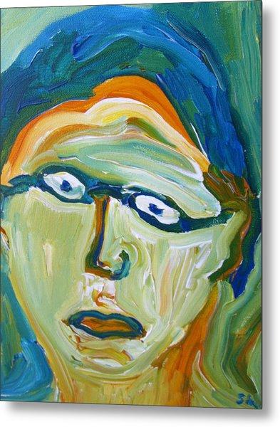 Man With Glasses Metal Print