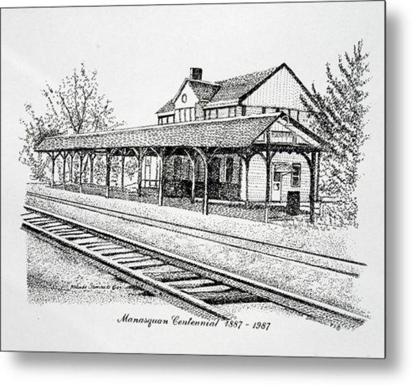 Manasquan Train Station Metal Print