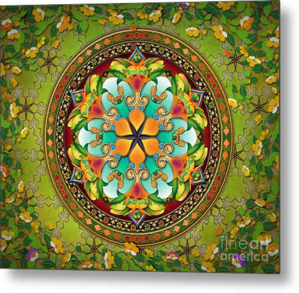 Mandala Evergreen Sp Metal Print