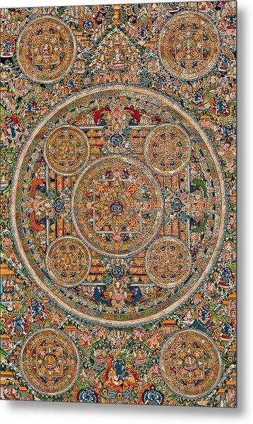 Mandala Of Heruka In Yab Yum And Buddhas Metal Print