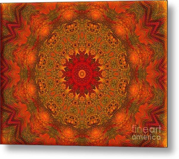 Mandala Of The Rising Sun - Spiritual Art By Giada Rossi Metal Print