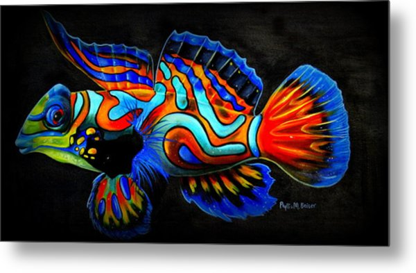 Mandarin Fish Metal Print