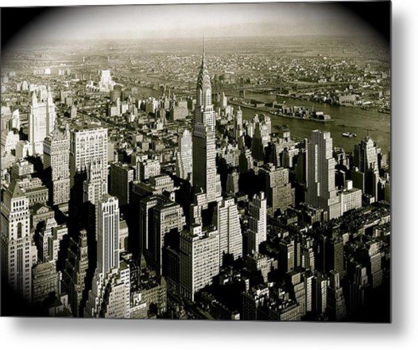 Manhattan And Chrysler Building II Metal Print