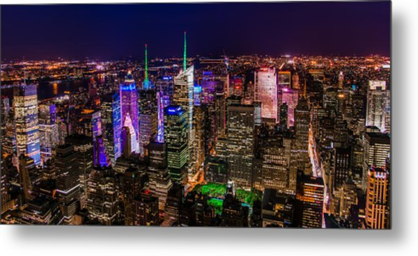Manhattan At Night 2 Metal Print