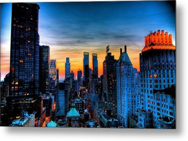 Manhattan At Sunset Metal Print