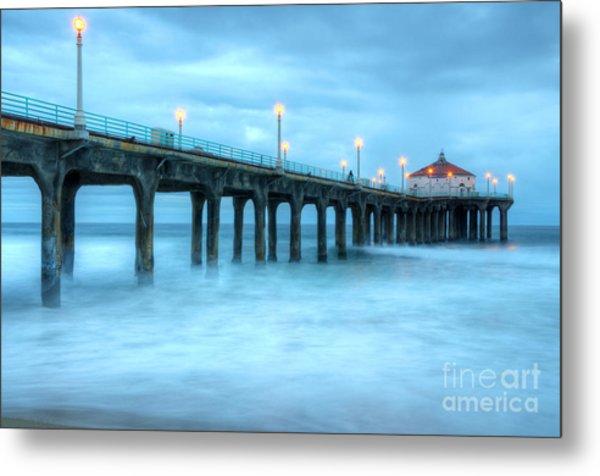 Manhattan Beach Pier California Metal Print