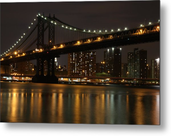 Manhattan Bridge 3019-48 Metal Print by Deidre Elzer-Lento