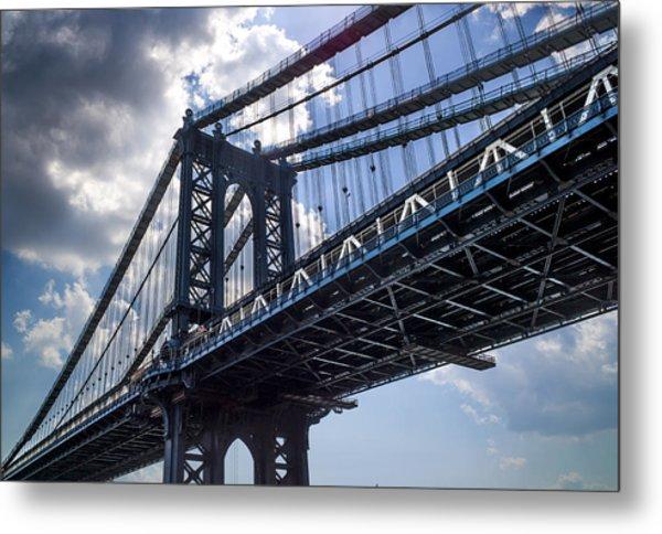 Manhattan Bridge Metal Print by Chris Halford