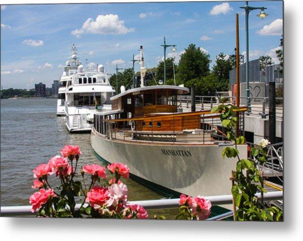 Manhattan Cruise Boat Metal Print