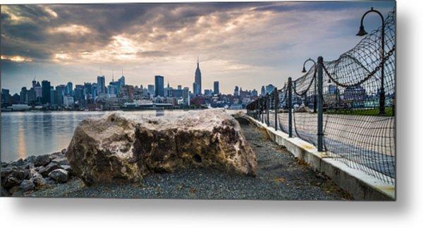 Manhattan Over The Hudson Metal Print by Chris Halford