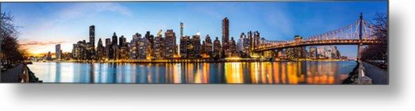 Manhattan Panorama And Queensboro Bridge Metal Print