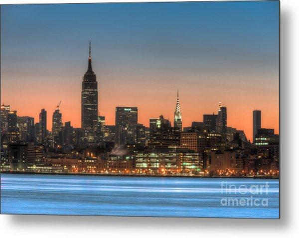 Manhattan Skyline And Pre-sunrise Sky I Metal Print