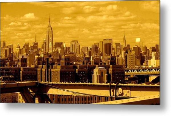 Manhattan Skyline Metal Print