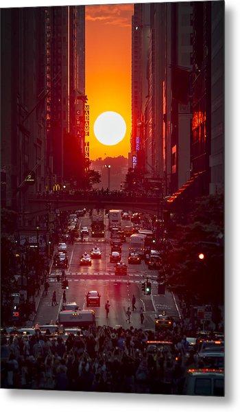 Manhattanhenge Metal Print