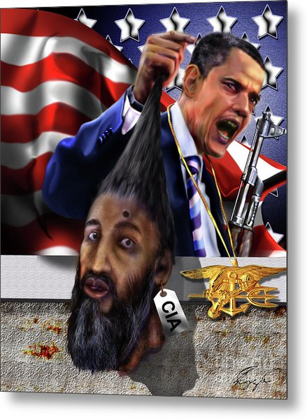 Manifestation Of Frustration - I Am Commander In Chief - Period - On My Watch - Me And My Boys 1-2 Metal Print