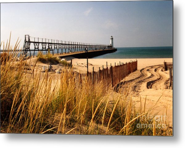 Manistee Lighthouse Metal Print
