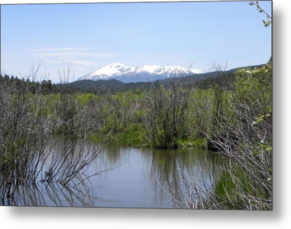 Lake Manitou Sp Woodland Park Co Metal Print