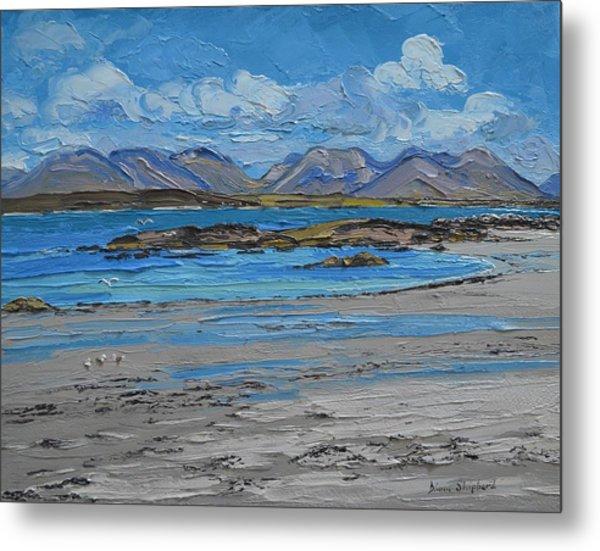 Mannin Bay Beach Ballyconneelly Connemara Metal Print