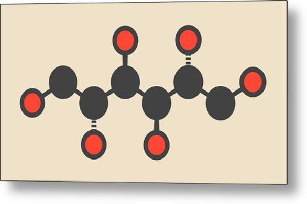 Mannitol Molecule Metal Print by Molekuul
